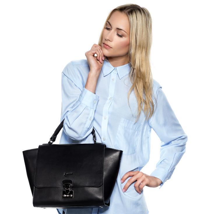Trapez Tasche aus Leder