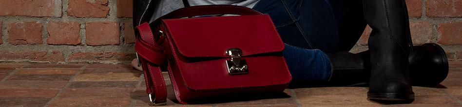 Leather bag red Banner