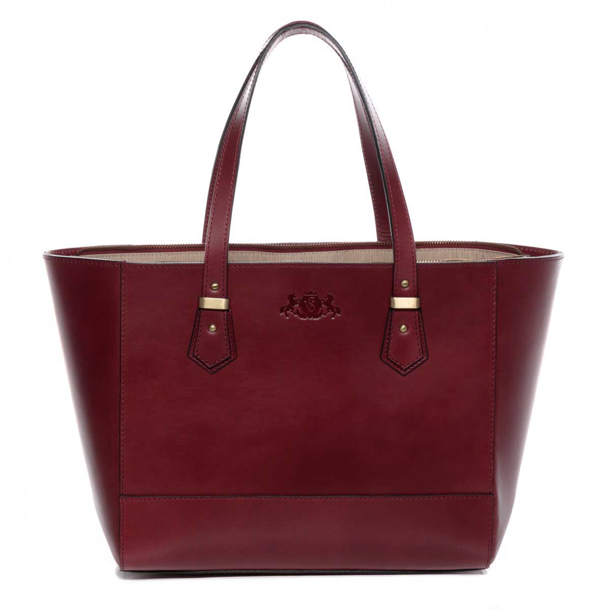 Tasche in bordeaux rot